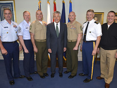 MCPOCG Leavitt meets with SecDef Chuck Hagel - 2