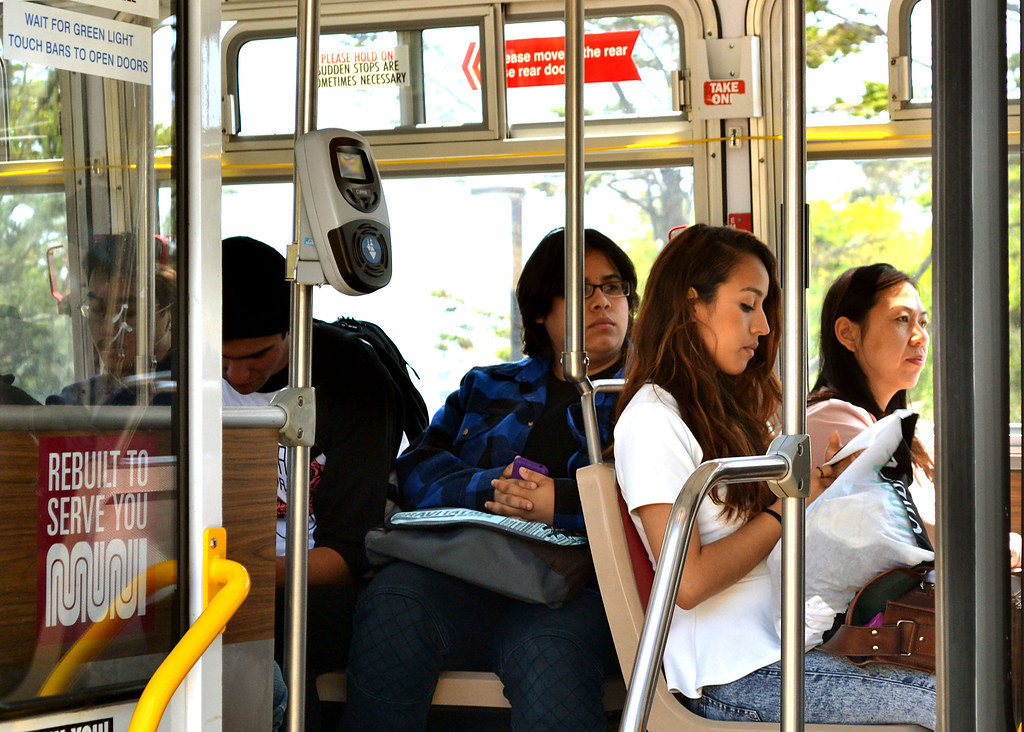 Commuters who take public transportation have been targeted by cell phone thieves.  Commuters are often unaware of their surroundings making them easier targets of theft.  Photo by Samantha Benedict / Xpress