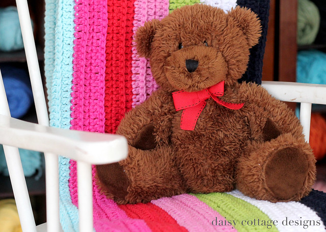 blanket with teddy bear