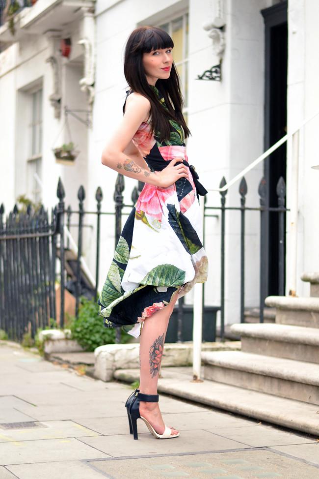 Vivienne Westwood floral dress outfit 3