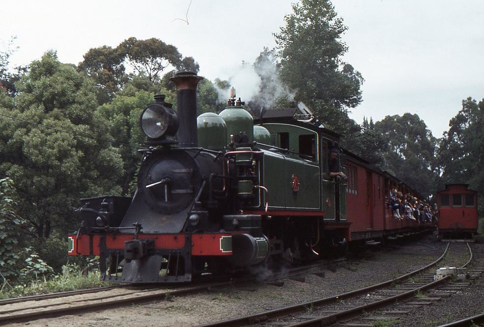 7A departing Belgrave by Robert Kay
