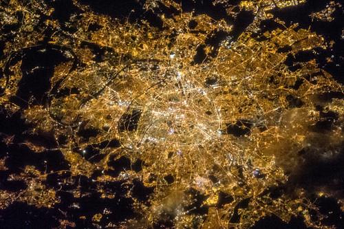 Paris at Night (NASA, International Space Station, 04/07/13)