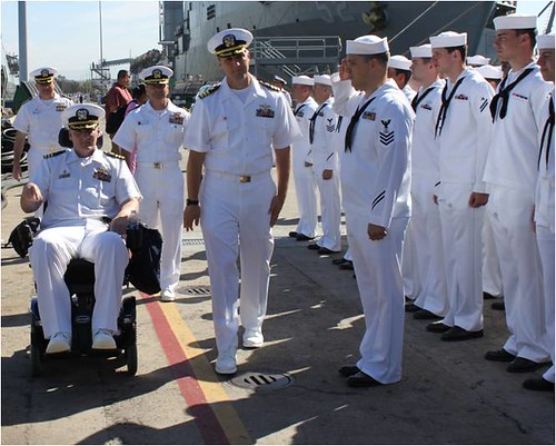 USS Harpers Ferry (LSD 49) held a change of command ceremony on Naval Base San Diego