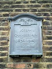 Photo of Joseph Chamberlain black plaque