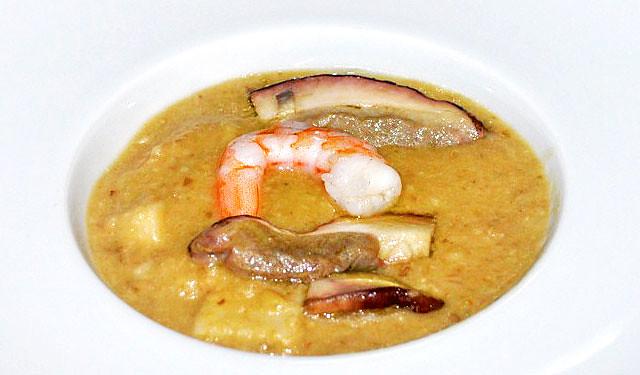 Zuppa di Porcini e Gamberi Rossi di Mazara del Vallo