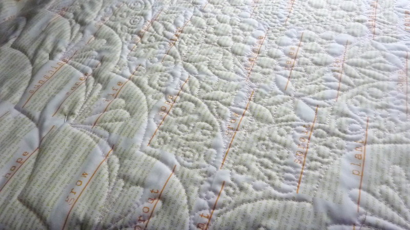 Quilting the Scalloped Diamonds Baby Quilt