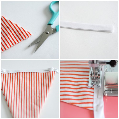 Making bunting - Steps 9-12