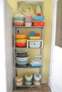 Pyrex in kitchen