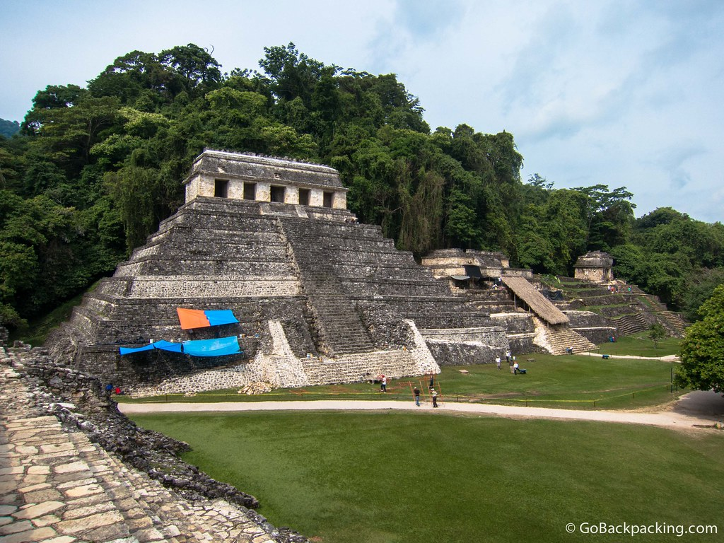The Temple of the Inscriptions, which features Pakal's tomb discovered in 1952