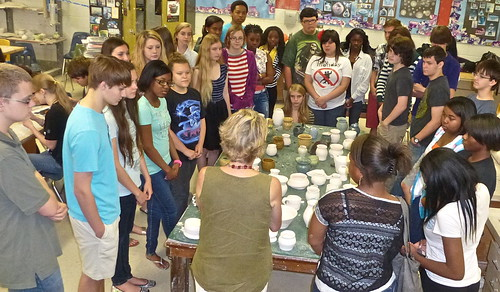 Geography class @ Raku Pottery, Caddo Magnet HS, Shreveport by trudeau