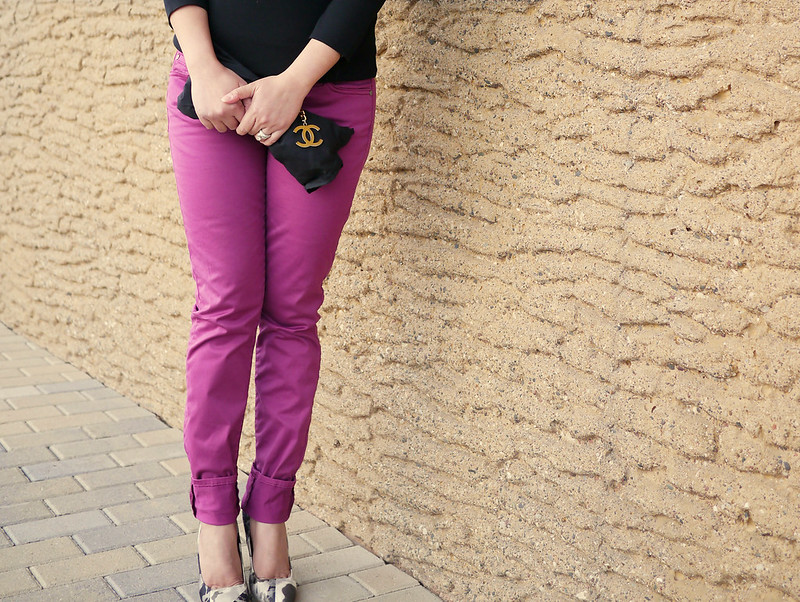 chanel clutch DIY - purple 7fam - dries van noten pumps9