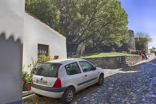 Image of Castelo de Bragança near Bragança. portugal car canon clio renault coche castillo hdr braganza automóvil bragança vehículo 2013 ccby castelodebragança trásosmontesealtodouro canoneos60d distritodebraganza 03052013 mayode2013 castillodebraganza