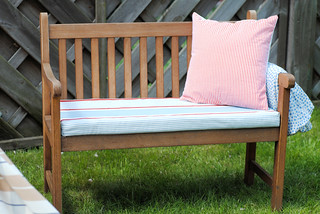 Hand made bench & scatter cushion