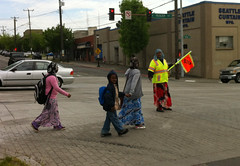 Awesome crossing guard at 12th & Yesler
