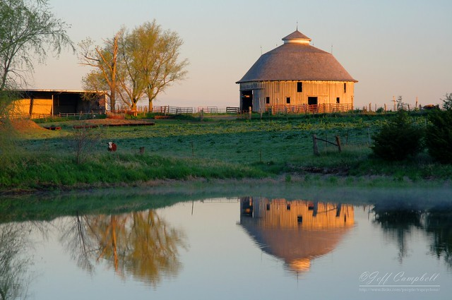 Circular Barn Sunrise