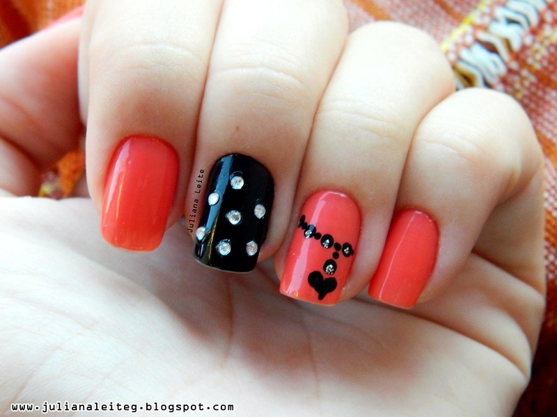juliana leite unhas decoradas nail art pingente preta pedras 005