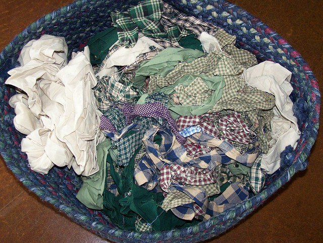 Basket of Homespun Scraps