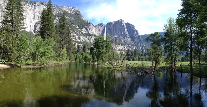 Merced River Panorama #yosemite #waterfall