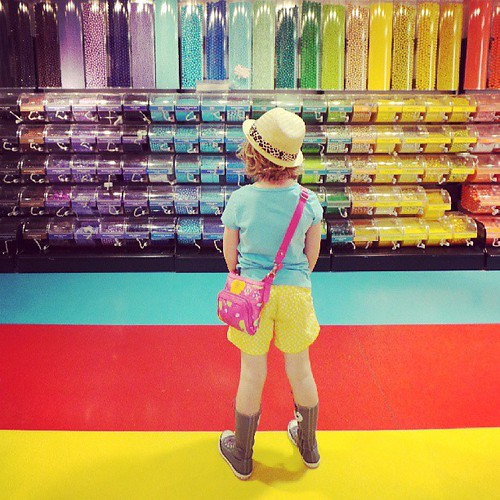 """It's like a magical chocolate covered rainbow wonderland."" -Addie, age 8. #AddieInNYC"