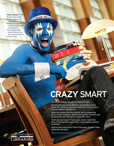 Crazy Smart Duke Athletics Library Fund