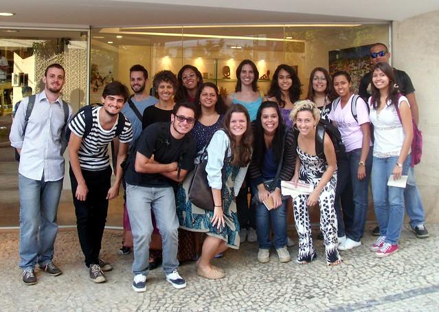 Grupo de alunos participantes do minicurso. Foto: Acervo Minas Raízes