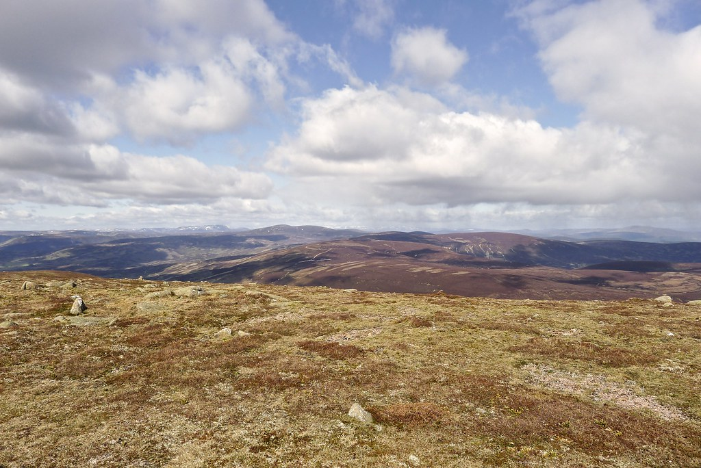 Lochnagar and Mount Keen from Mount Battock