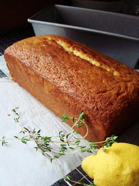 Lemon Thyme Olive Oil Cake