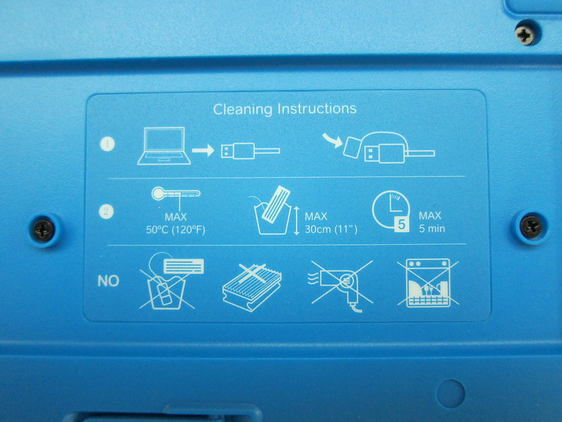 Logitech K310 Washable Keyboard - Cleaning Instructions