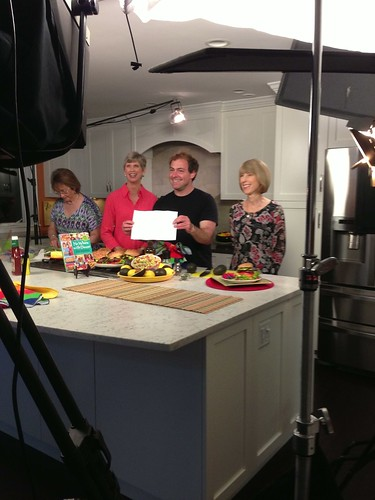 Taping an avocado summer recipe segment for The Daily Buzz
