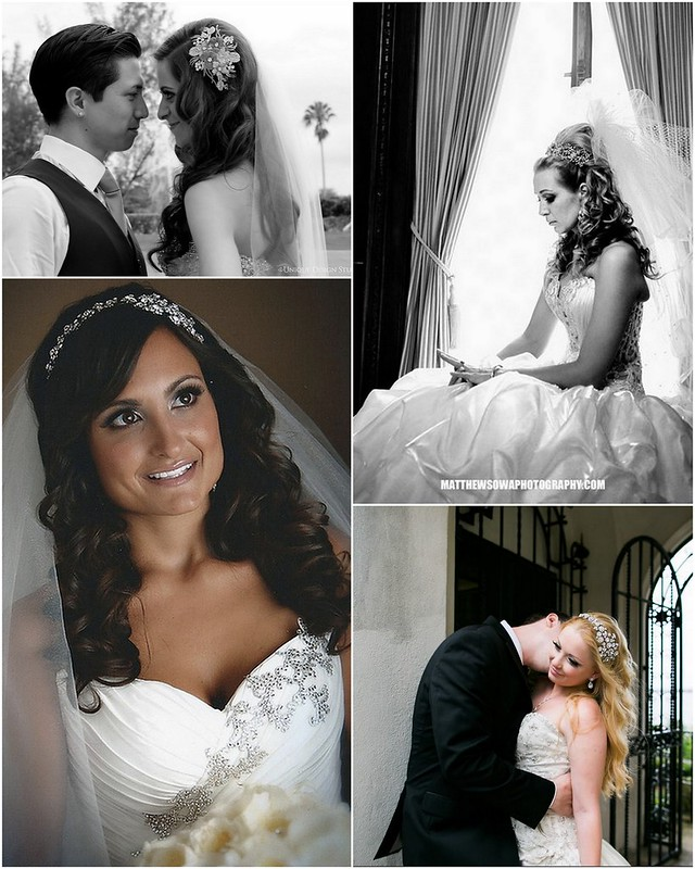 Real Bridal Styles Bride  Hair Inspiration - Long