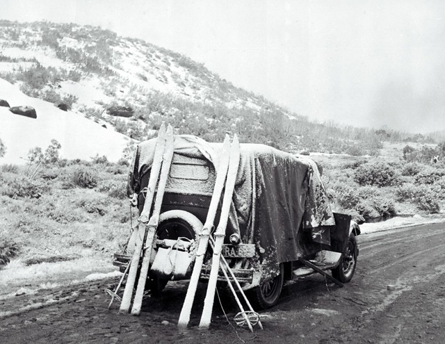Dainer's [I.e.Daner's] Gap camp, October 1948, Snowy Mountains, NSW