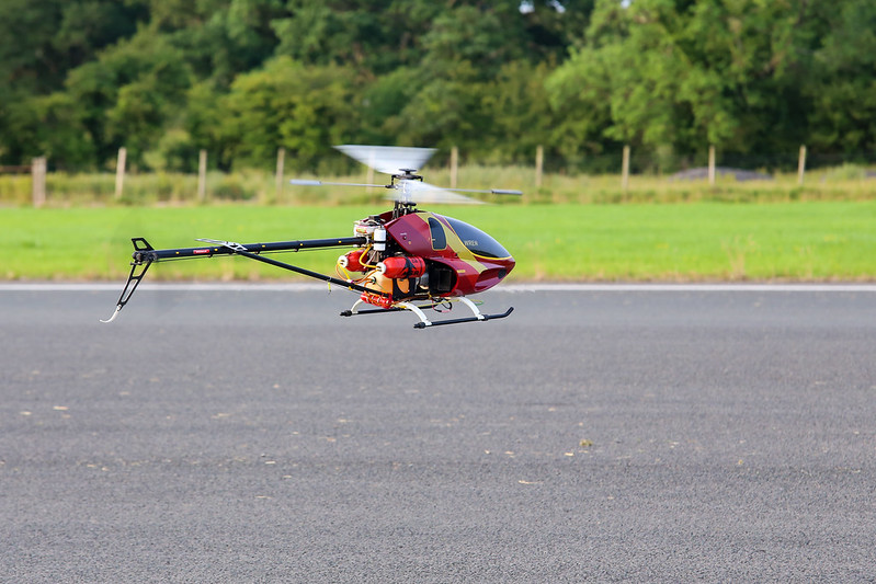 John flying his turbine powered heli