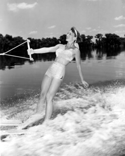 Joan Turbett at Cypress Gardens in Winter Haven, Florida