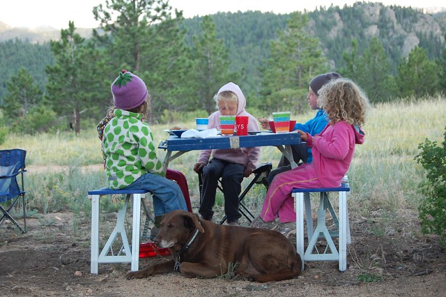 Kids table - Camping and Boating, Gross Reservoir, CO