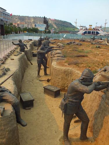 A török oldal - (a Dardanellák ostroma)