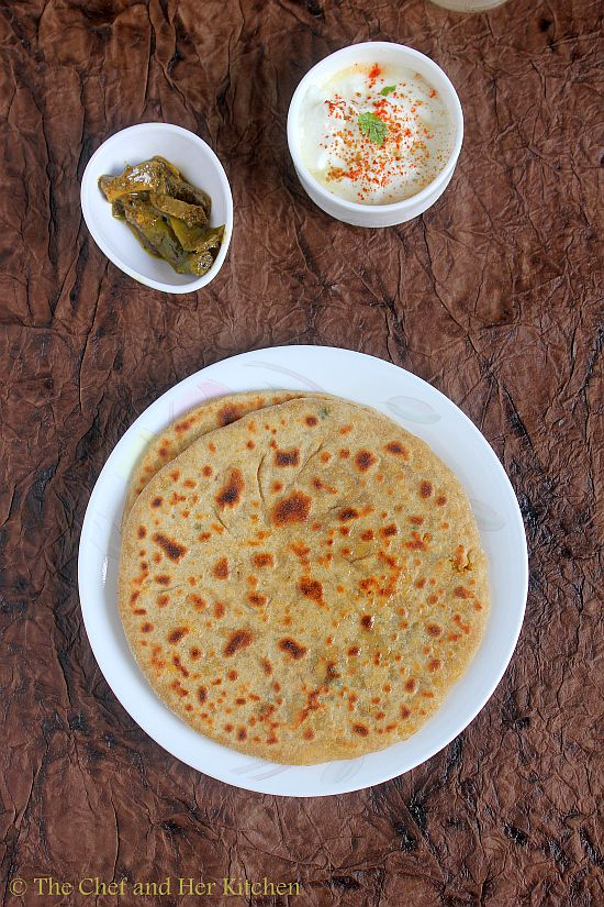 stuffed chana dal paratha