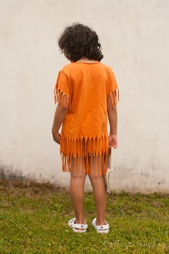 roupa de india atrás