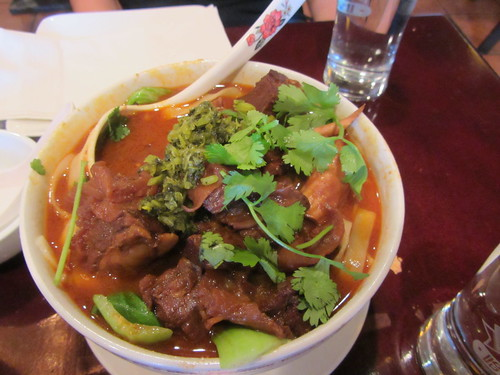 the special spicy beef noodles