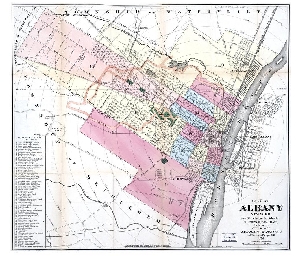 1874 map albany NY 1870s | AlbanyGroup Archive | Flickr