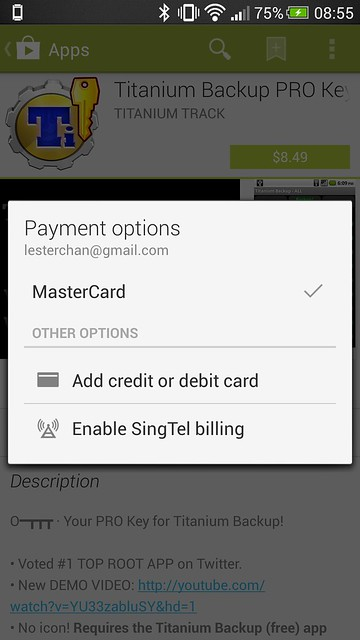 SingTel Direct Carrier Billing For Google Play Purchases