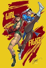 #Chun-Li and #Cammy by #JScottCampbell