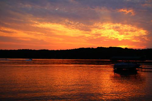 sunset lake minnesota boat nisswa