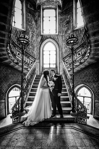 Bride stairs