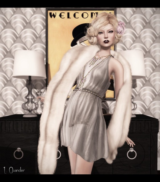 C88 August - Baiastice_Claudette dress & Mink Princess Stole - Champagne (close)