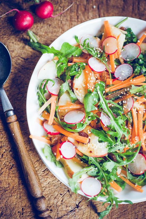Apple, Radish & Carrot Salad