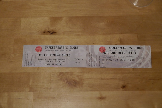 Ticket and offer to The Lightning Child at Shakespeare's Globe