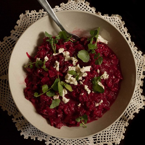 beetroot & red wine risotto