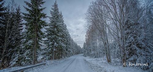 road winter photoshop suomi finland nikon nikkor topaz lightroom winterroad nuijamaa 1424mm fintravel