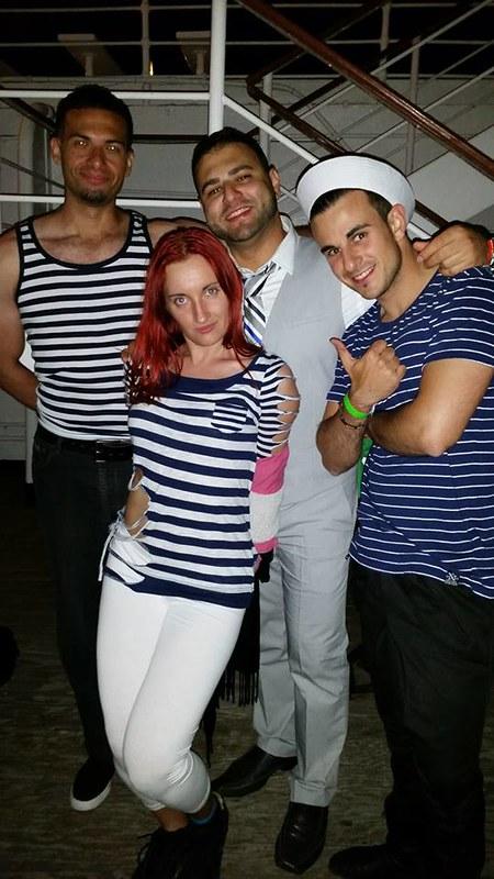 LA party sailors after