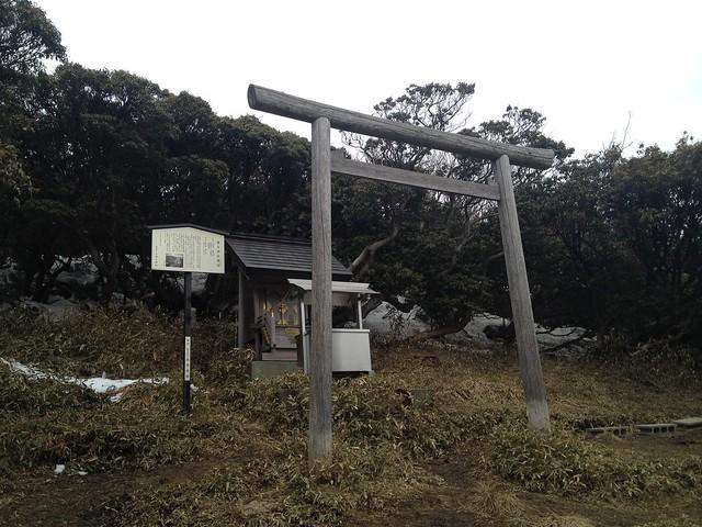 入道ヶ岳 最高点 椿神社奥宮